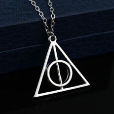 Movie Harry Potter Deathly Hallows Hot Metal Silver Pendant Necklaces for Women