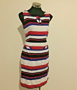 NEW! Target Red, White, Black & Blue Striped Dress Size 16