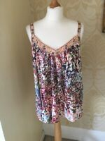New NEXT Ladies Gorgeous Strappy Floral Embellished Top 10 12 14 16 18 20 22