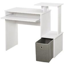 HOMCOM Computertisch Schreibtisch Bürotisch PC-Tisch mit Tastaturablage Weiß