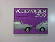 1966 Volkswagen 1600 Instruction Manual