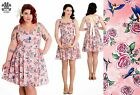 Hell Bunny Lacey Mini Rockabilly Pinup Swing Vintage Dress S & XL