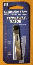 Klecker Knives KKTS215-BRK Stowaway Straight Razor Shaving Knife Keyport