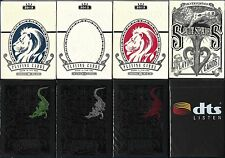 Rare Playing Cards - Red Gatorbacks, White Lions, Split Spades, DTS - 8 Decks