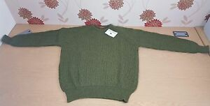 "Jumper Supersoft Shetland 46"" Mens Ladies Apple Green Made in Scotland (Bx1Gr7)"