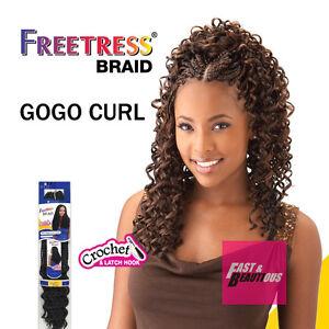 "Freetress Premium Synthetic Hair Braid Crochet  - GOGO CURL 26"""