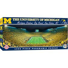 Masterpieces Michigan Wolverines 1000 Piece Stadium Panoramic Jigsaw Puzzle NIB