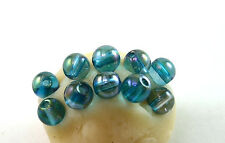 Aqua Aura 5mm Quartz Round Beads 1 lot 10 beads
