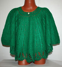 Knitted poncho for girls
