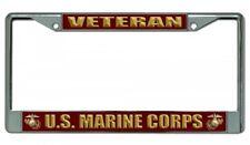 U.S. Marine Corps Veteran Metal Chrome License Plate Frame