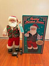 Vtg Rockin Around Dancing Santa Musical Brenda Lee Christmas Decoration - Great!