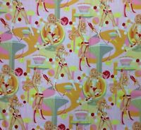 AH245 Sexy Pin Up Girls Retro Futurella Outer Space Chic Cotton Quilt Fabric
