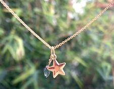 gemstone star pendant sapphire beaded puffy charm celestial september 14k gold