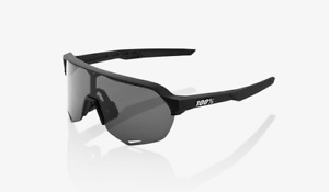 100% Percent Cycling S2 Sunglasses - Soft Tact Black - Smoke Lens