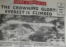 1953 Newspaper Mount Everest Himalayas Disney expedition Challenge Asia Sherpa