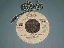 """Mickey Gilley~Your Memory Ain't What It Used To Be~45rpm 7"""" Single~PROMO"""