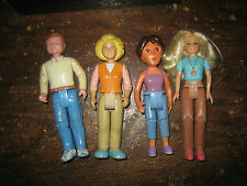 "4 Rare Htf Collectable Dollhouse Figures Lot "" Sold As Is """