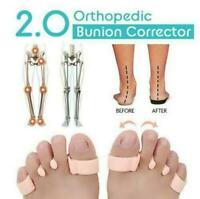 2X Orthopedic Bunion Corrector Toe Separators Elastic Straighteners Spacers G1O2