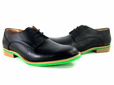 JD FISK MEN'S CALLUM OXFORD DRESS SHOES BLACK LEATHER US SIZE 9 EUR 43 MEDIUM
