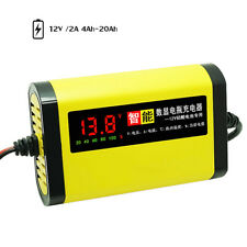 Car Motorcycle Battery Charger 12V 2A Full Automatic 3 Stages Lead Acid AGM GEL