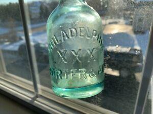 Antique Embossed -R.B. WEBSTER N.Y. - PHILADELPHIA XXX PORTER & ALE Beer Bottle