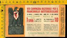 Libretto erinnofilo antitubercolare tv 173