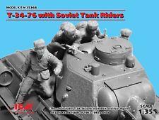 Tanque soviética ICM 1/35 T-34-76 con jinetes # 35368