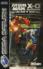 ## SEGA SATURN - Iron Man X-O Manowar (in OVP, aber mit Gebrauchsspuren) ##