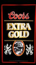 """Vintage Coors Extra Gold Lighted Beer Sign 26x16"""" - Excellent Condition"""