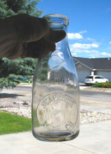 rare! EMBOSSED QUART old SCAPPOOSE, OREGON OR DAIRY CO milk bottle