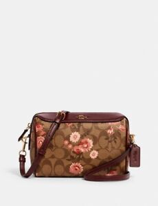 NWT Coach 3056 Bennett Crossbody in Signature Canvas with Prairie Daisy Print