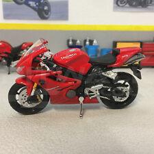 Triumph Daytona 675 Rouge échelle 1:18 Die-Cast Model sport vélo moto