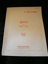 Partitur H Villa Lobos Duo für Oboe et Fagott Max Eschig