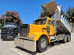 Custom Built Tamiya 1/14 King Hauler Day Cab Lift Dump Bed Truck ESC 2.4GHz LED