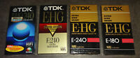 TDK E-HG E-240/-180 Extra High Grade VHS Video Kassette SEALED NEU & OVP TOP