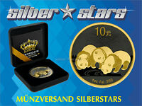 1 OZ Silber China Panda 2013 Gold Black Empire Edition