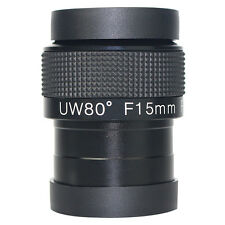 2inchs F15mm Ultra Wide Angle 80 Degree Telescope Eyepiece FMC Lens