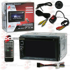POWER ACOUSTIK PD-623B 6.2 INCH CAR 2-DIN DVD BLUETOOTH STEREO FREE REAR CAMERA