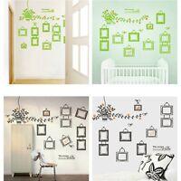 DIY Home Room Decor Family Photo Frame Black Tree Wall Sticker Wall Decal