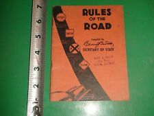 JC228 Vintage Illinois Rules of the Road Booklet 1950?