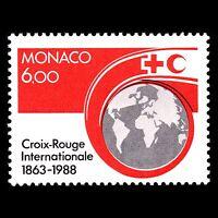 Monaco 1988 - 125th Anniversary of Red Cross Globe - Sc 1634 MNH
