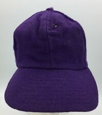 Vtg Purple Wool Fitted Leather Sweatband Moth Holes Hat Size 6 7/8 Made in USA