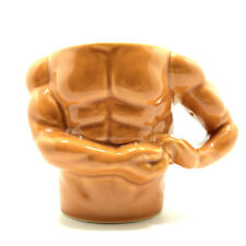 Unique Sexy Muscle Ceramic Mug Strong Male Torso Coffee Cup gift