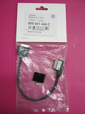 GENUINE VW MEDIA IPOD IPHONE 4 5 AND 6 LEAD CABLE ADAPTER  BRAND NEW IN PACKET