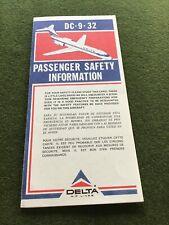 safety card delta dc 9 32
