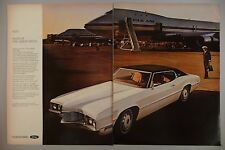 Ford Thunderbird Double-Page PRINT AD - 1969 ~~ 1970 model ~~ Pan Am Jet
