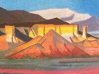 Ghost Ranch Modern Western Art Santa Fe Original Oil Painting New Mexico Abiquiu