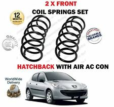FOR PEUGEOT 207 HATCHBACK AIR CON 1.6 + HDI 2006-> NEW 2 X FRONT COIL SPRINGS