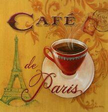 ANGELA staehling: París cafe café cocina Imagen TERMINADA 30x30 Mural Decoración