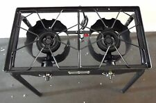 """HEAVY 32"""" Gas/Propane Double Burner Stove Brew Canning Camping  NEW"""